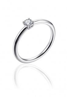 Ring Silber Solitär GISSER_R393