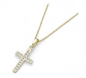 Collier 375 Gold mit Kreuz Anhänger 99012640450