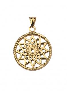 Traumfänger Mandala Anhänger midi Gold