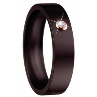 BERING Arctic Symphony Ring Ringeinsatz Keramik braun