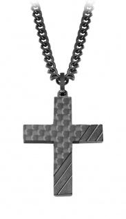 S.Oliver Edelstahl Halskette Kreuz 2022635