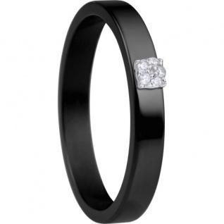 BERING Arctic Symphony Ring Keramik schwarz