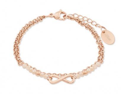S.Oliver Damen Armband IP Rose Infinity 2022731