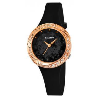 calypso armbanduhr schwarz rosegold k5641 6 kaufen bei. Black Bedroom Furniture Sets. Home Design Ideas