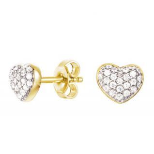ESPRIT Gold Ohrringe Herz ESER92693B