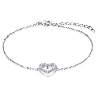 Armband Herz 925/- Silber GISSER_B1007