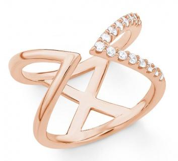 S.Oliver Silber Ring rosévergoldet 2018605