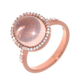 Aagaard Ring Silber rose vergoldet mit Rosenquarz