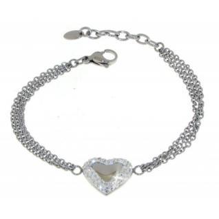 Lotus Style Armband Edelstahl Herz LS1768-2-1