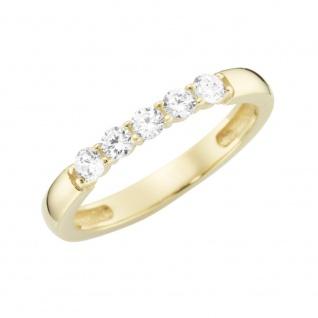 Ring 375/-Gelbgold mit Zirkonia 93011940000