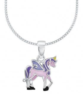 Prinzessin Lillifee Silberkette mit Einhornanhänger Rosa 2013154
