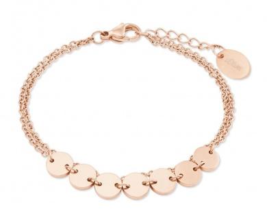 S.Oliver Damen Armband 2022705 IP Rose