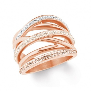 S.Oliver Edelstahl Ring rosévergoldet 2020960