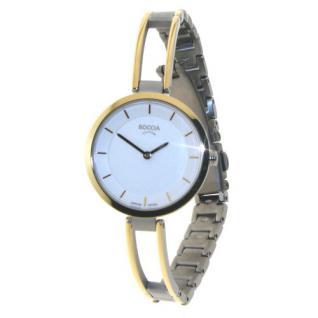 Boccia Damen Titan Uhr bicolor 3264-03