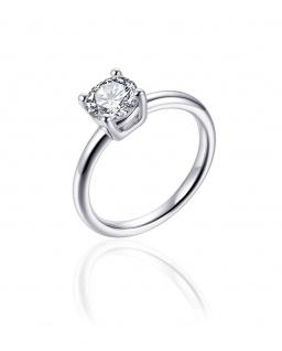 Ring Silber Solitär GISSER_R397