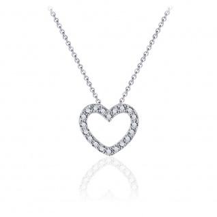 Halskette Herz 925 Silber GISSER_N1024