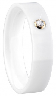 BERING Arctic Symphony Ring Ringeinsatz Keramik weiß