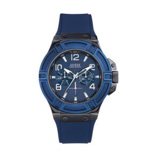 Guess Herrenuhr schwarz blau Rigor W0248G5