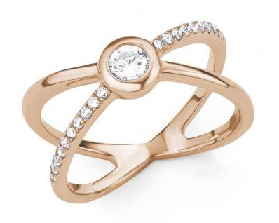 S.Oliver Silber Ring rosévergoldet 2015151