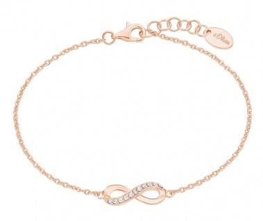 S.Oliver Silber Armband Infinity rosévergoldet 2024290