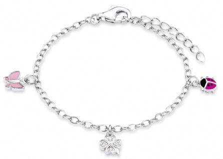 Prinzessin Lillifee Armkette Schmetterling, Marienkäfer & Kleeblatt Silber 9082414