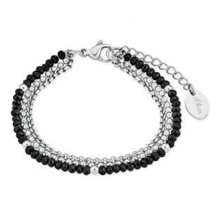 S.Oliver Damen Armband 2018347 mit Glasperlen