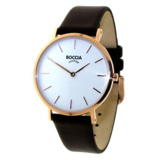 Boccia Damen Titan Uhr Lederband 3273-06