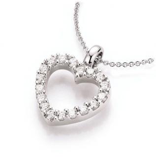 Kette mit Herzanhänger Silber 99001993450