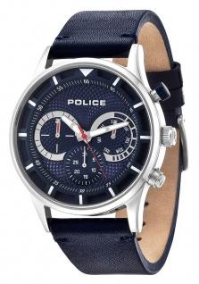 Police Herren Multifunktionsuhr Driver PL14383JS-03