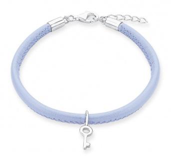 S.Oliver Leder Armband Lavendel 2012806