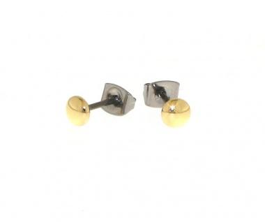 Boccia Titanohrstecker Gold 05013-02