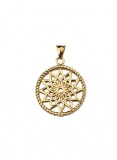 Traumfänger Mandala Anhänger klein Gold