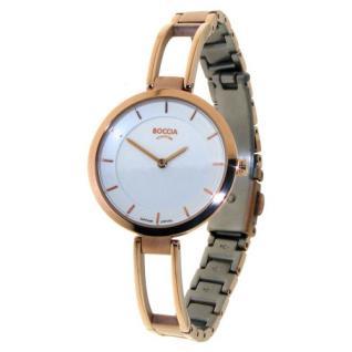 Boccia Damen Titan Uhr roségold 3264-04
