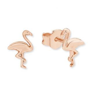 S.Oliver Silber Ohrringe Flamingo rotvergoldet 2019864