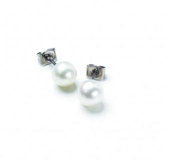 Boccia Titan Ohrstecker Perle 0536-01