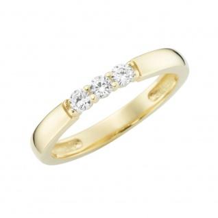 Ring 375/-Gelbgold mit Zirkonia 93011840000