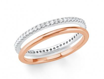 S.Oliver Silber Ring rosévergoldet 2021012