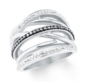 S.Oliver Edelstahl Ring mit Swarovski Elements 2022652