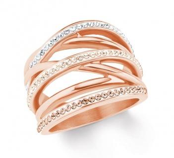 S.Oliver Edelstahl Ring mit Swarovski Elements 2020960