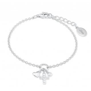 S.Oliver Silber Armband mit Herz und Kreuz 2022704