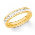 S.Oliver Edelstahl Ring IP Gold 2018554