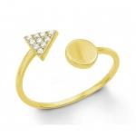 S.Oliver Silber Ring vergoldet 2012665