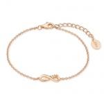 S.Oliver Silber Armband Infinity rosévergoldet 2019931