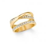 S.Oliver Edelstahl Ring IP Gold 2021070