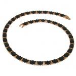 Boccia Titan Keramik Collier rotgold-schwarz 0867-04