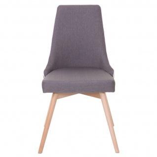 2x Esszimmerstuhl HWC-B44, Stuhl Küchenstuhl, Retro 50er Jahre Design Stoff/Textil dunkelgrau - Vorschau 3