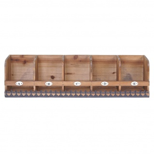 Wandregal HWC-A43, Hängeregal Regal, Tanne Holz massiv Vintage Shabby-Look 71x18x16cm - Vorschau 3