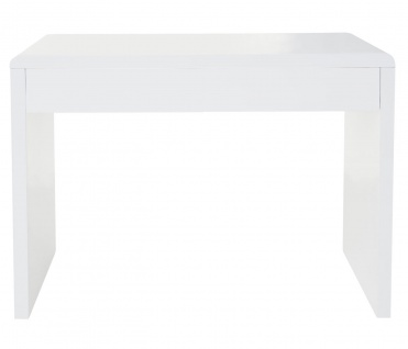 Design Schreibtisch Edmonton, Bürotisch Computertisch, hochglanz 100x50cm weiß - Vorschau 5