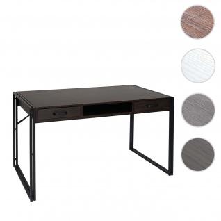 Schreibtisch HWC-A27, Bürotisch Computertisch, 122x70cm 3D-Struktur ~ dunkelbraun