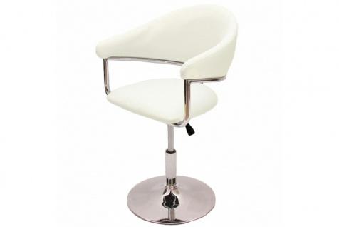 Barhocker Dema, Barstuhl Tresenhocker Lounge Stuhl, Kunstleder ~ creme